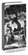 Christ & Woman Of Samaria Portable Battery Charger