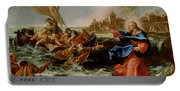 Christ At The Sea Of Galilee Portable Battery Charger