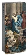 Christ At The Temple Portable Battery Charger