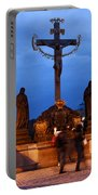 Christ Crucifixion Sculpture Portable Battery Charger