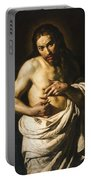 Christ Displaying His Wounds Portable Battery Charger