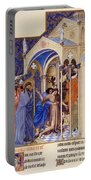 Christ Exorcising A Demon From A Possessed Youth: Illumination From The 15th Century Ms. Of The Tres Riches Heures Of Jean, Duke Of Berry Portable Battery Charger