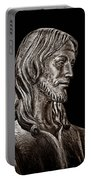 Christ In Bronze - Bw Portable Battery Charger