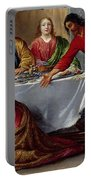 Christ In The House Of Simon The Pharisee Portable Battery Charger