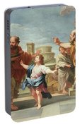 Christ Preaching In The Temple Portable Battery Charger