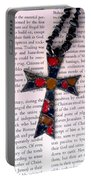 Christian  Cross Portable Battery Charger by Cynthia Amaral