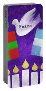 Christmas And Hanukkah Peace Portable Battery Charger