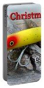 Christmas Greeting Card - Gibbs Darter Vintage Fishing Lure Portable Battery Charger