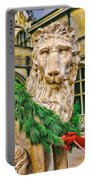 Christmas Lion At Biltmore Portable Battery Charger
