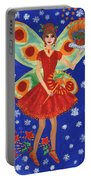 Christmas Pudding Fairy Portable Battery Charger