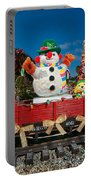 Christmas Snowman On Rails Portable Battery Charger