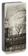 Christs Church Philadelphia In Sepia Portable Battery Charger