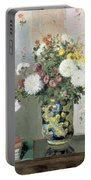 Chrysanthemums In A Chinese Vase Portable Battery Charger