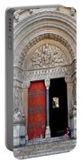 Church Entrance Arles France Portable Battery Charger