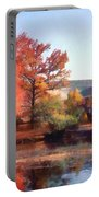 Church In Autumn Portable Battery Charger