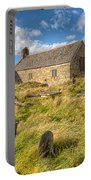 Church Of Celynnin Portable Battery Charger by Adrian Evans