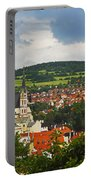 Church Spire In The Old Town Cesky Portable Battery Charger