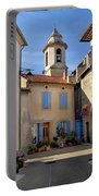 Church Steeple In Provence Portable Battery Charger