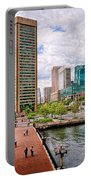 City - Baltimore Md - Harbor Place - Baltimore World Trade Center  Portable Battery Charger