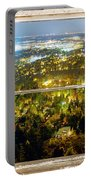 City Lights White Rustic Picture Window Frame Photo Art View Portable Battery Charger