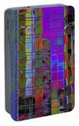 City Windows Abstract Pop Art Colors Portable Battery Charger