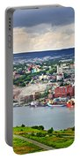 Cityscape Of Saint John's From Signal Hill Portable Battery Charger