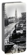 Civil War Damaged Charleston South Carolina - Meeting Street - C 1865 Portable Battery Charger