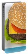 Classic Hamburger With Cheese Tomato And Salad Portable Battery Charger