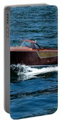 Classic Wooden Boat Portable Battery Charger