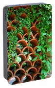 Clay Pattern Wall With Vines Portable Battery Charger