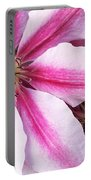 Clematis Close Up Portable Battery Charger
