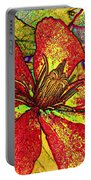 Clematis In Colored Pencil  Portable Battery Charger