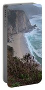Cliffs And Surf On The California Coast Portable Battery Charger