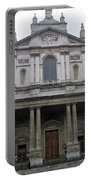 Close Up Of A Classical Architecture Of A Building In London Portable Battery Charger
