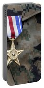 Close-up Of A Medal On The Uniform Portable Battery Charger