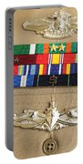 Close-up View Of Military Decorations Portable Battery Charger