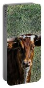 Closeup Of Texas Longhorn Portable Battery Charger