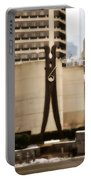 Clothes Pin Statue In Philadelphia Portable Battery Charger