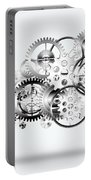 Cloud Made By Gears Wheels  Portable Battery Charger