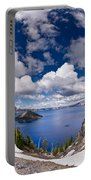 Clouds Above Crater Lake Portable Battery Charger