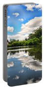 Clouds Reflection On Water Portable Battery Charger