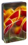 Cluisiana Tulips Triptych Panel 2 Portable Battery Charger