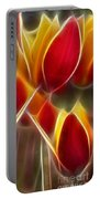 Cluisiana Tulips Triptych Panel 3 Portable Battery Charger