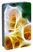 Cluster Of Gladiolas Triptych Panel 1 Portable Battery Charger