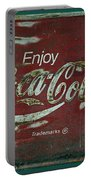 Coca Cola Green Red Grunge Sign Portable Battery Charger