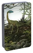 Coelophysis Dinosaurs Walk Amongst Portable Battery Charger
