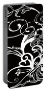 Coffee Flowers 1 Bw Portable Battery Charger