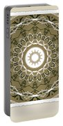 Coffee Flowers 1 Olive Medallion Scrapbook Portable Battery Charger