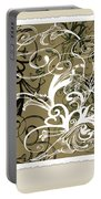 Coffee Flowers 1 Olive Scrapbook Portable Battery Charger