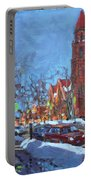 Cold Morning In Elmwood Ave  Portable Battery Charger